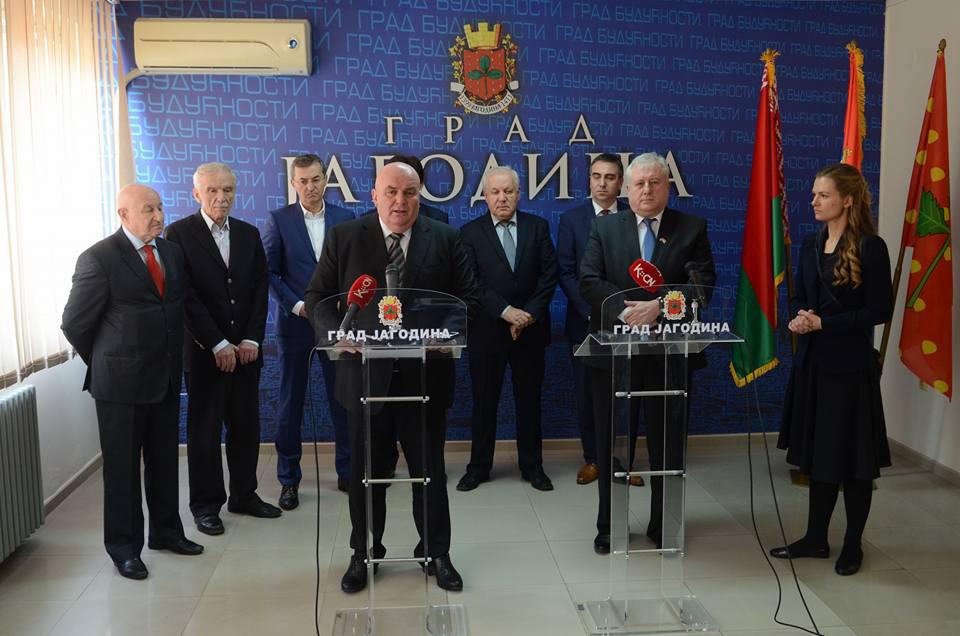 Амбасадор Републике Белорусије Валериј Бриљов у посети Скупштини Града Јагодина - 29.03.2018. године