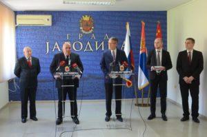 Амбасадор Русије Александар Чепурин посетио Јагодину - 20.04.2018. године