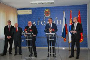 Амбасадор Русије Александар Чепурин посетио Јагодину - 20.04.2018. године - слика