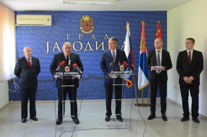 Ambasador Rusije Aleksandar Čepurin posetio Jagodinu - 20.04.2018. godine